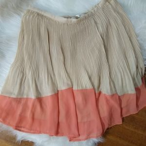 Lauren Conrad two tone glitter skirt pleated Sz S